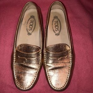 Tod's Leather Driving Moccasins Loafers